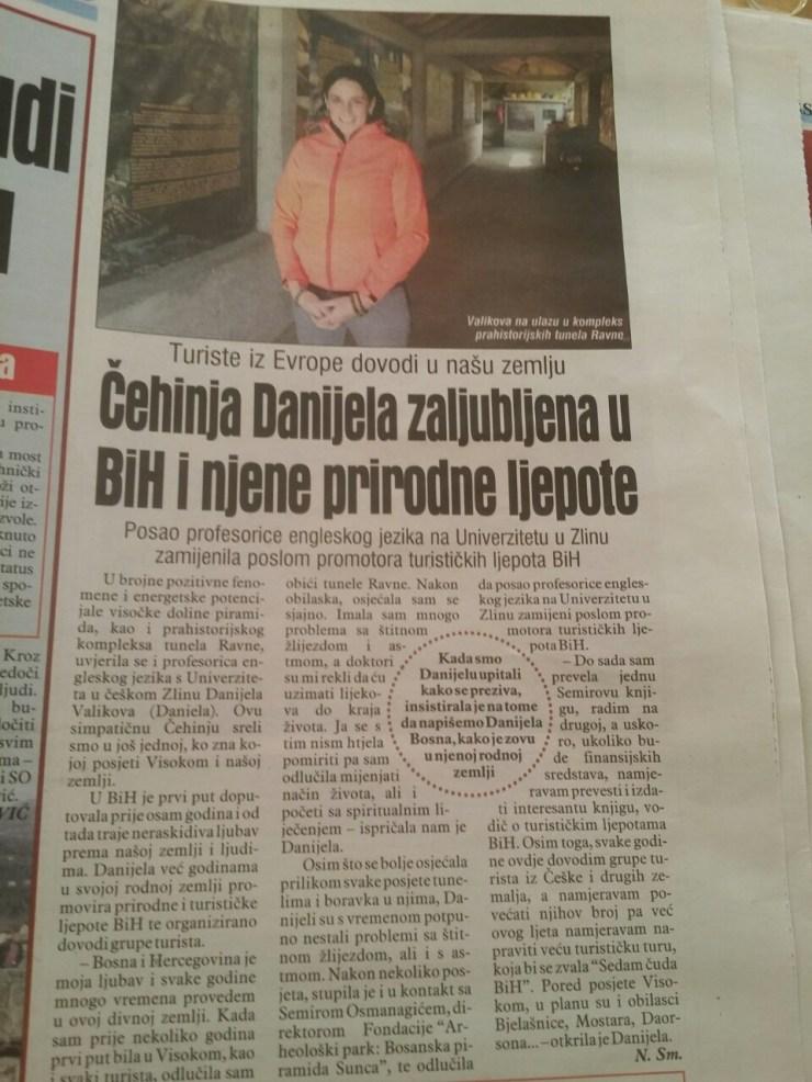 Čehinja Daniela zaljubljena u BiH i njene prirodne ljepote