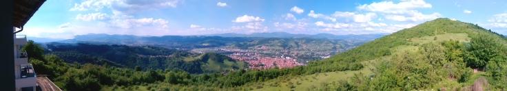 Panorama z ubytování ve Visoku