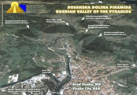 bosenské údolí pyramid